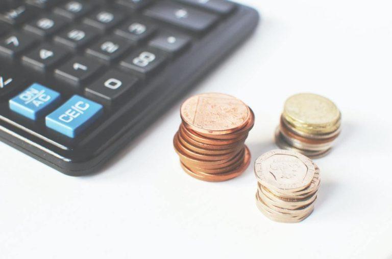 Cette image de calculette illustre le prix d'une chaudière à gaz