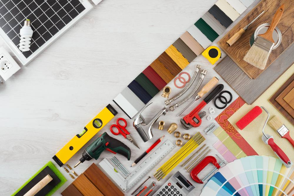 panel outils bricolage