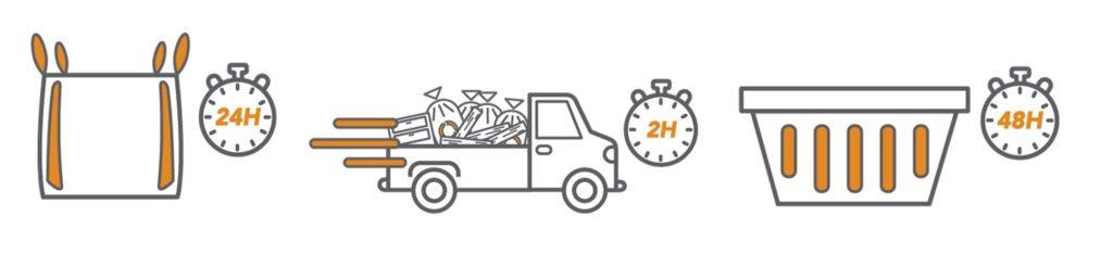 illustration enlèvement déchets